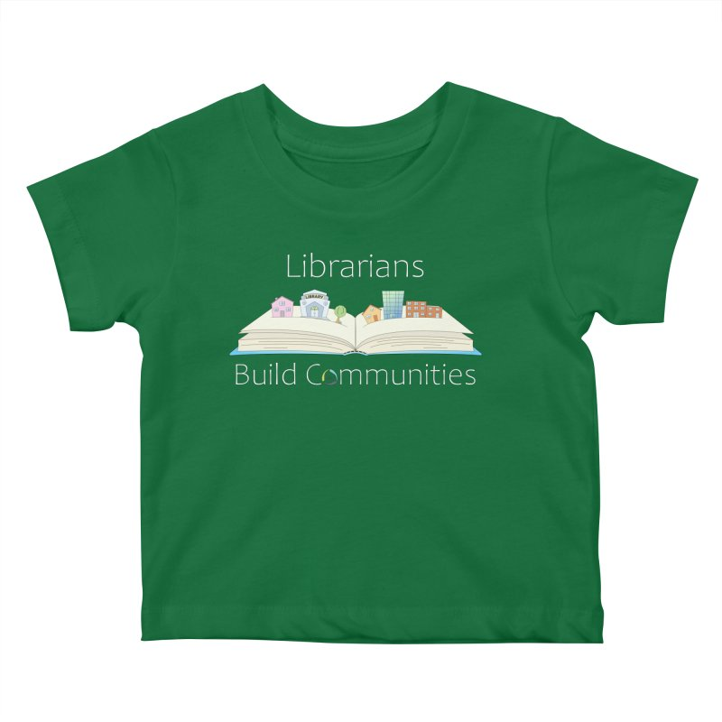 Pop-Up Communities (White Text / Dark Background) Kids Baby T-Shirt by North Carolina Library Association Summer Shop