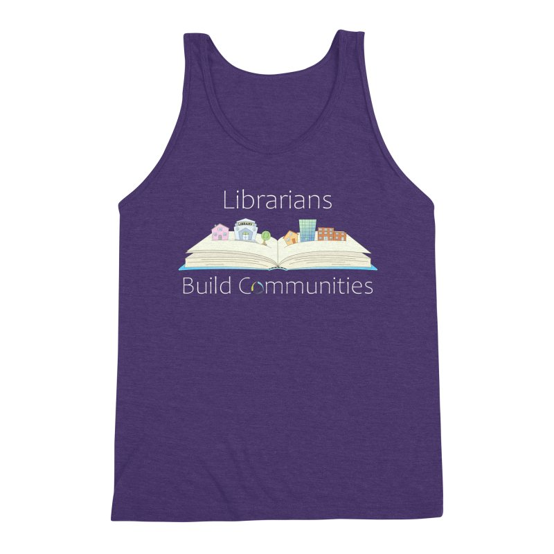 Pop-Up Communities (White Text / Dark Background) Men's Tank by North Carolina Library Association Summer Shop
