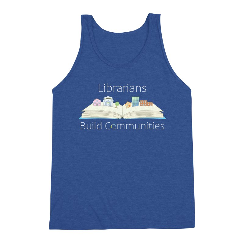 Pop-Up Communities (White Text / Dark Background) Men's Tank by North Carolina Library Association Summer Shop