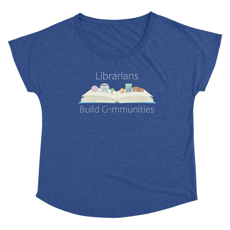 Pop-Up Communities (White Text / Dark Background) Women's Scoop Neck by North Carolina Library Association Summer Shop
