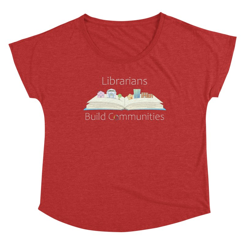 Pop-Up Communities (White Text / Dark Background) Women's Scoop Neck by North Carolina Library Association Summer Shop