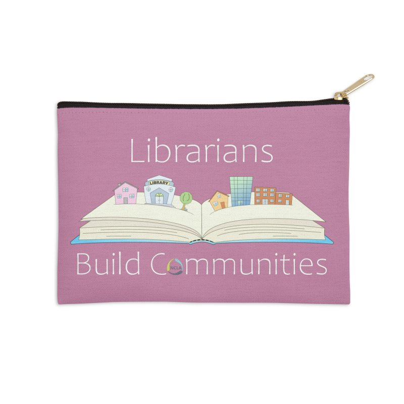 Pop-Up Communities (White Text / Dark Background) Accessories Zip Pouch by North Carolina Library Association Summer Shop