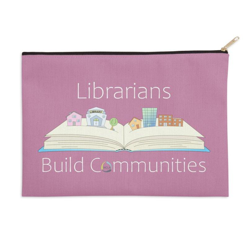Pop-Up Communities (White Text / Dark Background) Accessories Zip Pouch by North Carolina Library Association Summer Shop