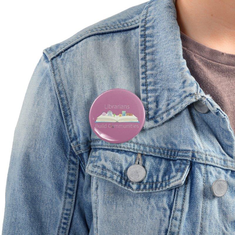 Pop-Up Communities (White Text / Dark Background) Accessories Button by North Carolina Library Association Summer Shop