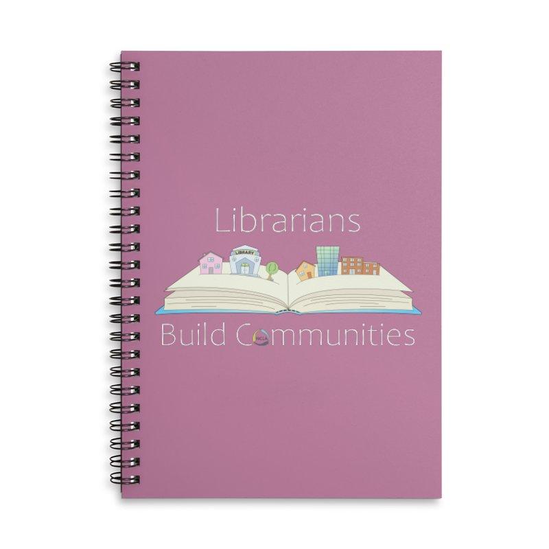Pop-Up Communities (White Text / Dark Background) Accessories Notebook by North Carolina Library Association Summer Shop