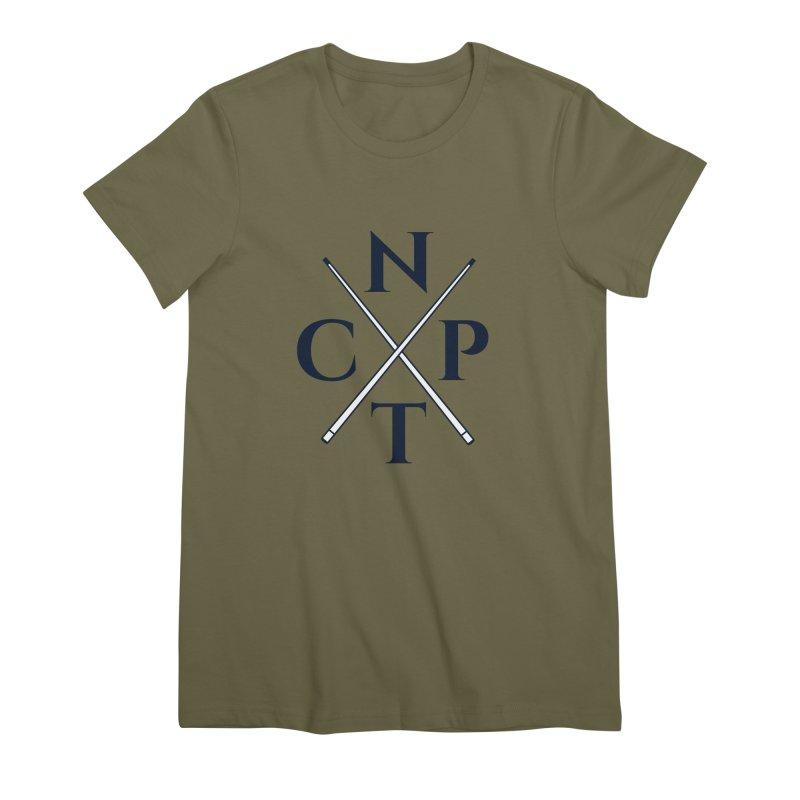 Cue Criss Cross Women's Premium T-Shirt by Shop NCPTplay