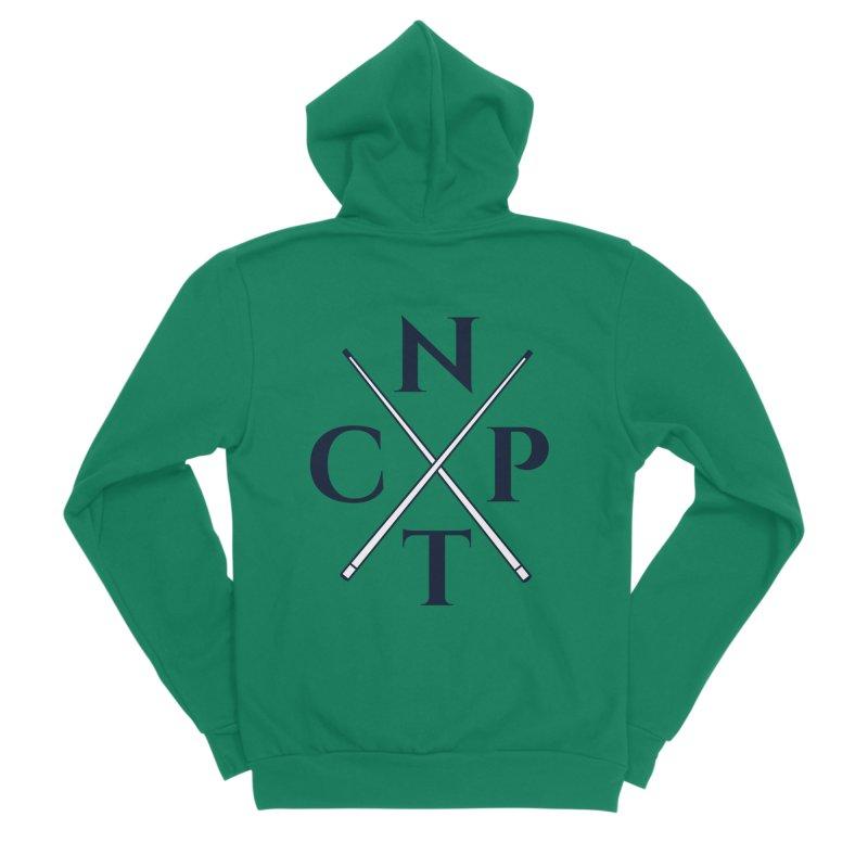 Cue Criss Cross Men's Sponge Fleece Zip-Up Hoody by Shop NCPTplay