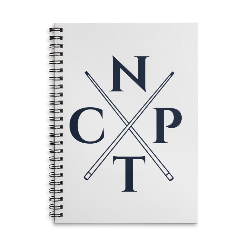 Cue Criss Cross Accessories Lined Spiral Notebook by Shop NCPTplay