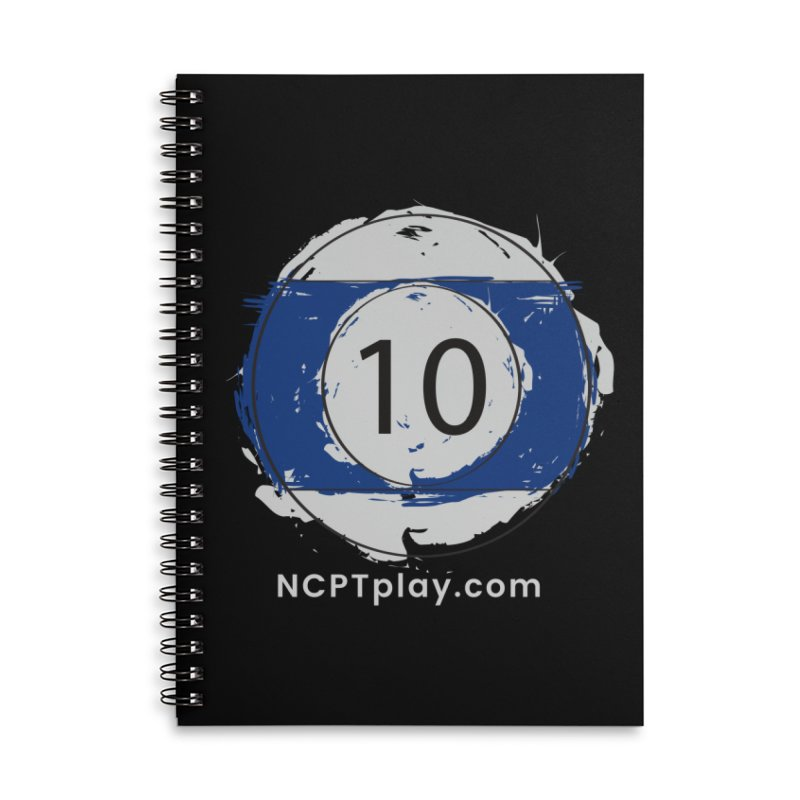 10 Ball Art Accessories Lined Spiral Notebook by Shop NCPTplay