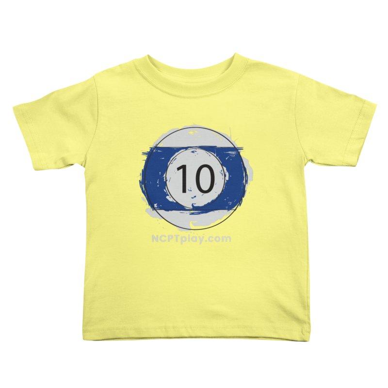 10 Ball Art Kids Toddler T-Shirt by Shop NCPTplay