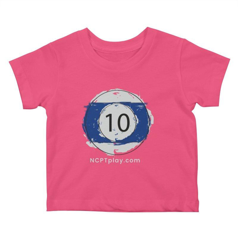 10 Ball Art Kids Baby T-Shirt by Shop NCPTplay