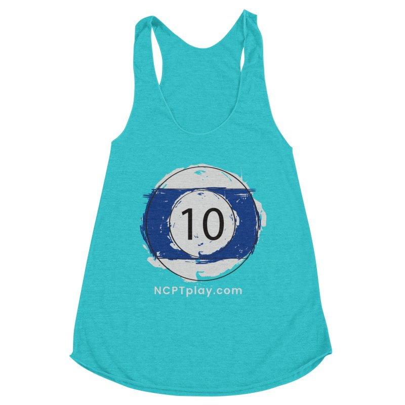 10 Ball Art Women's Racerback Triblend Tank by Shop NCPTplay