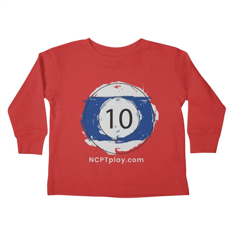 10 Ball Art Kids Toddler Longsleeve T-Shirt by Shop NCPTplay