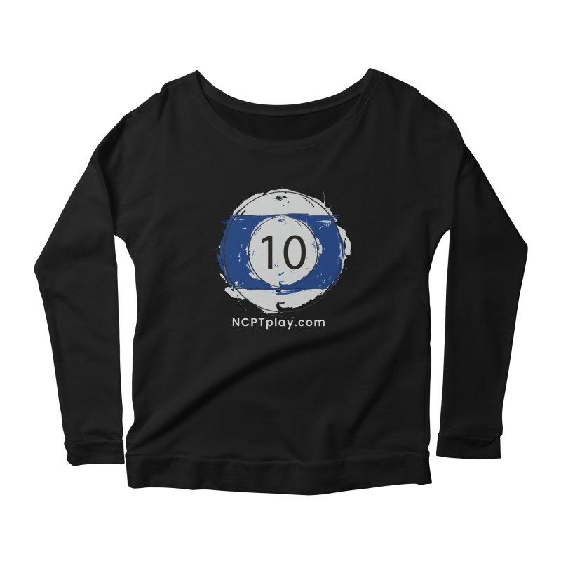 10 Ball Art Women's Scoop Neck Longsleeve T-Shirt by Shop NCPTplay