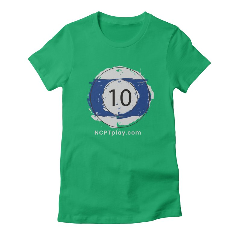 10 Ball Art Women's Fitted T-Shirt by Shop NCPTplay