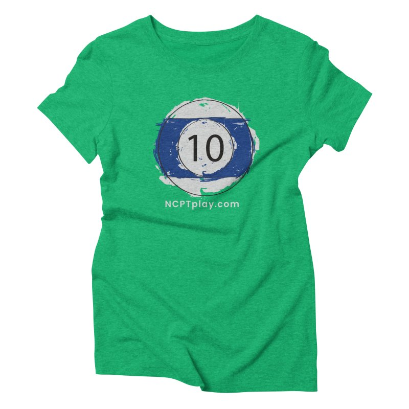 10 Ball Art Women's Triblend T-Shirt by Shop NCPTplay