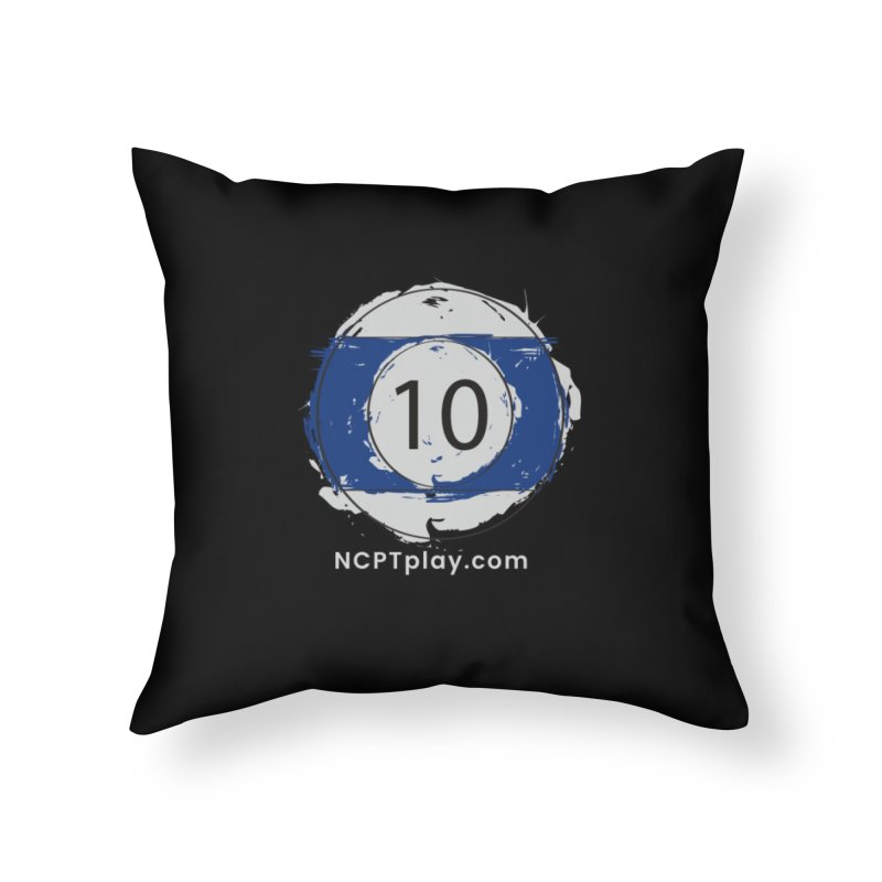 10 Ball Art Home Throw Pillow by Shop NCPTplay