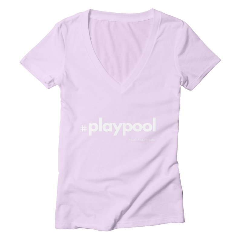 #playpool Women's Deep V-Neck V-Neck by Shop NCPTplay