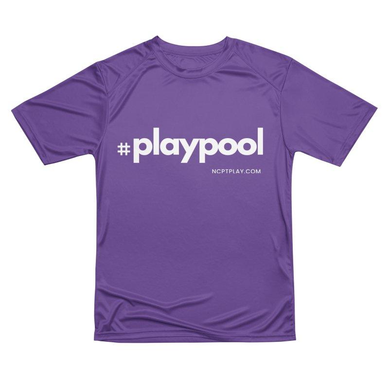 #playpool Women's Performance Unisex T-Shirt by Shop NCPTplay