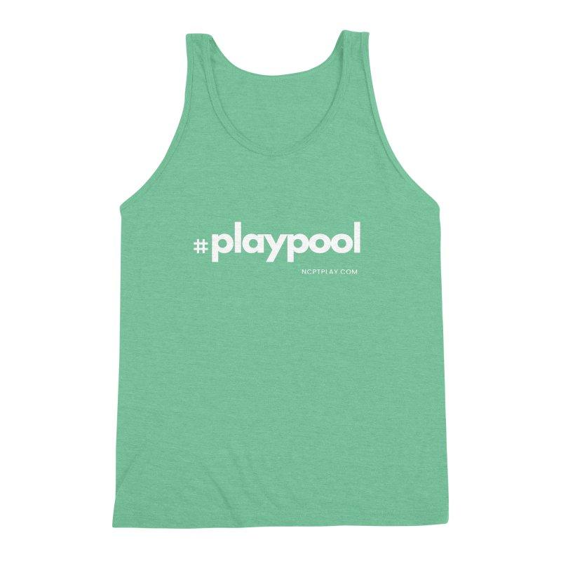 #playpool Men's Triblend Tank by Shop NCPTplay