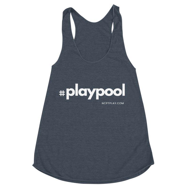 #playpool Women's Racerback Triblend Tank by Shop NCPTplay