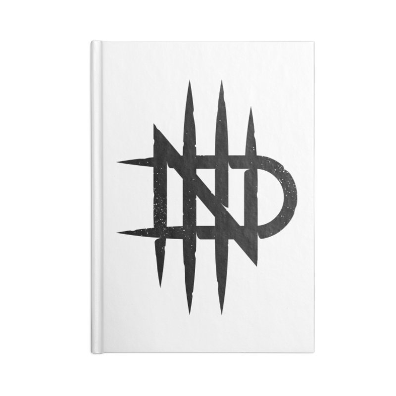 NDTH Monogram Accessories Blank Journal Notebook by NDTH's Artist Shop