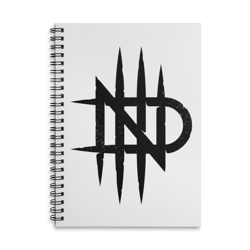 NDTH Monogram Accessories Lined Spiral Notebook by NDTH's Artist Shop