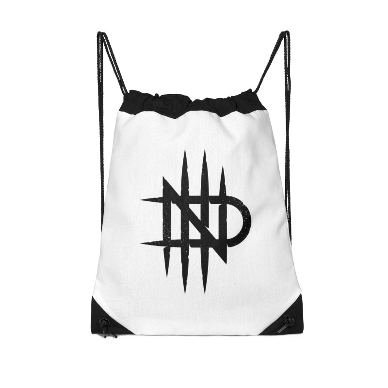 NDTH Monogram Accessories Drawstring Bag Bag by NDTH's Artist Shop