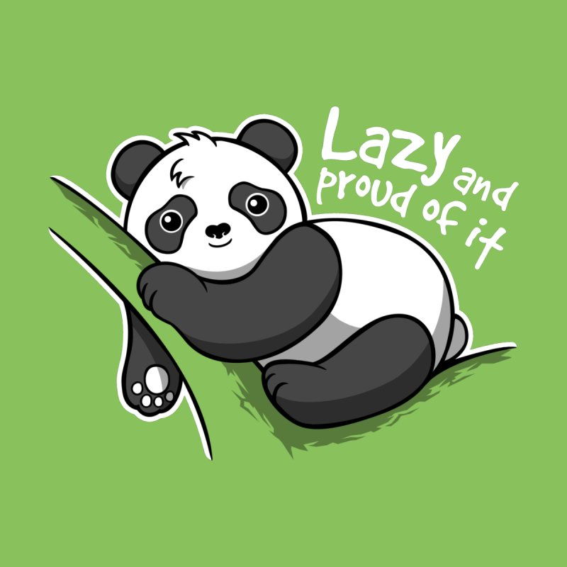 Lazy panda by NemiMakeit's Artist Shop