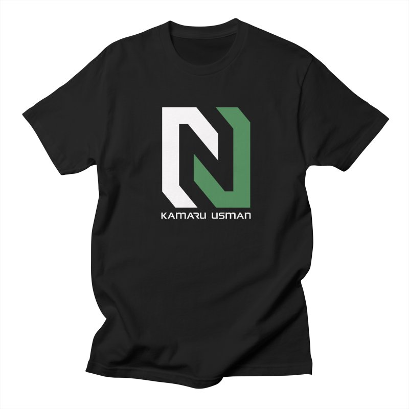 Team Usman in Men's Regular T-Shirt Black by NGHTMR Clothing
