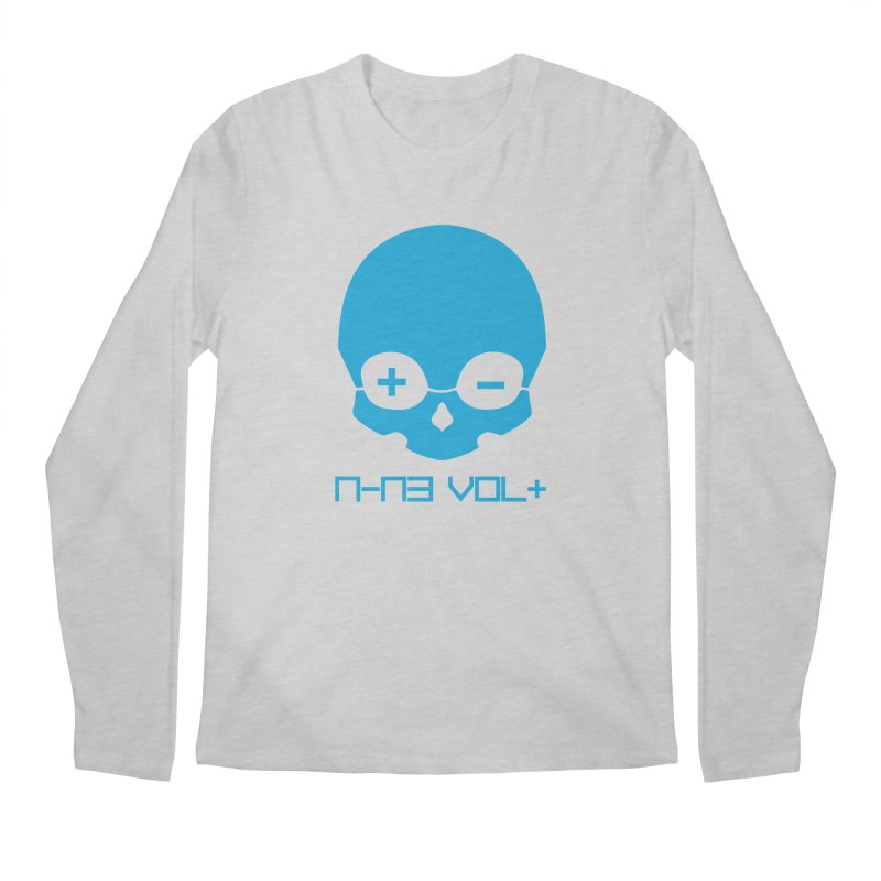 THE NINE VOLT ORIGINAL: SKULL ELECTRIC BLUE Men's Longsleeve T-Shirt by NIN3VOLT