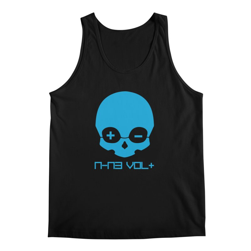 THE NINE VOLT ORIGINAL: SKULL ELECTRIC BLUE Men's Tank by NIN3VOLT