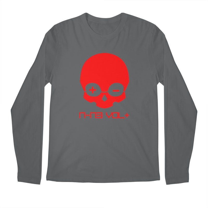 THE NINE VOLT ORIGINAL: SKULL RED ALERT Men's Longsleeve T-Shirt by NIN3VOLT