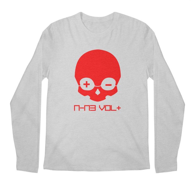 THE NINE VOLT ORIGINAL: SKULL RED ALERT Men's Longsleeve T-Shirt by NIN3VOLT
