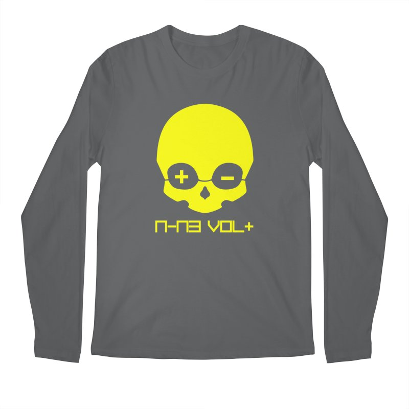 THE NINE VOLT ORIGINAL: SKULL YELLOW BEACON Men's Longsleeve T-Shirt by NIN3VOLT