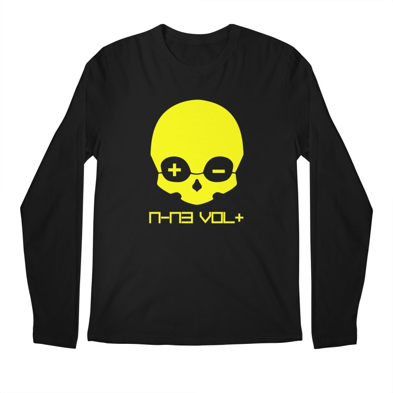 THE NINE VOLT ORIGINAL: SKULL YELLOW BEACON Men's Longsleeve T-Shirt by NIN3VOLT