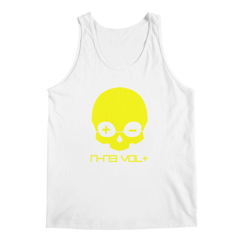 THE NINE VOLT ORIGINAL: SKULL YELLOW BEACON Men's Tank by NIN3VOLT
