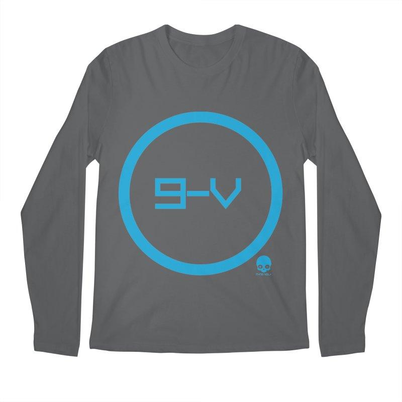 9-V: ELECTRIC BLUE Men's Longsleeve T-Shirt by NIN3VOLT