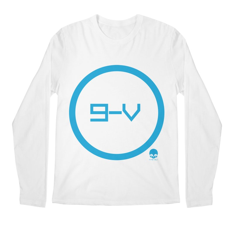 9-V: ELECTRIC BLUE Men's Longsleeve T-Shirt by NIN3VOLT
