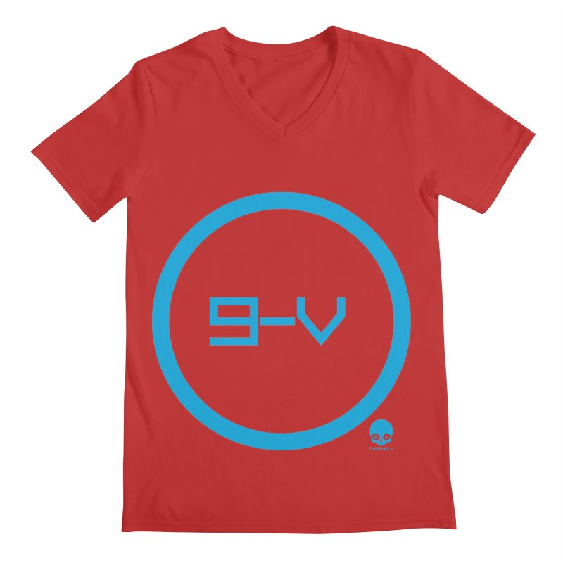 9-V: ELECTRIC BLUE Men's V-Neck by NIN3VOLT