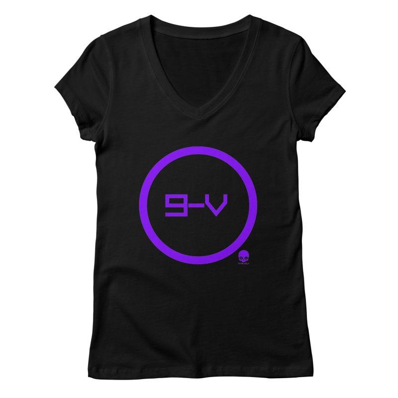 9-V: GRAPE Women's V-Neck by NIN3VOLT