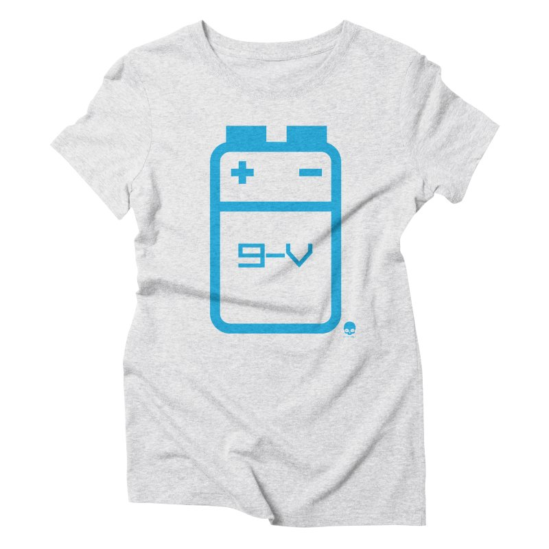 THE BATTERY: ELECTRIC BLUE Women's Triblend T-Shirt by NIN3VOLT
