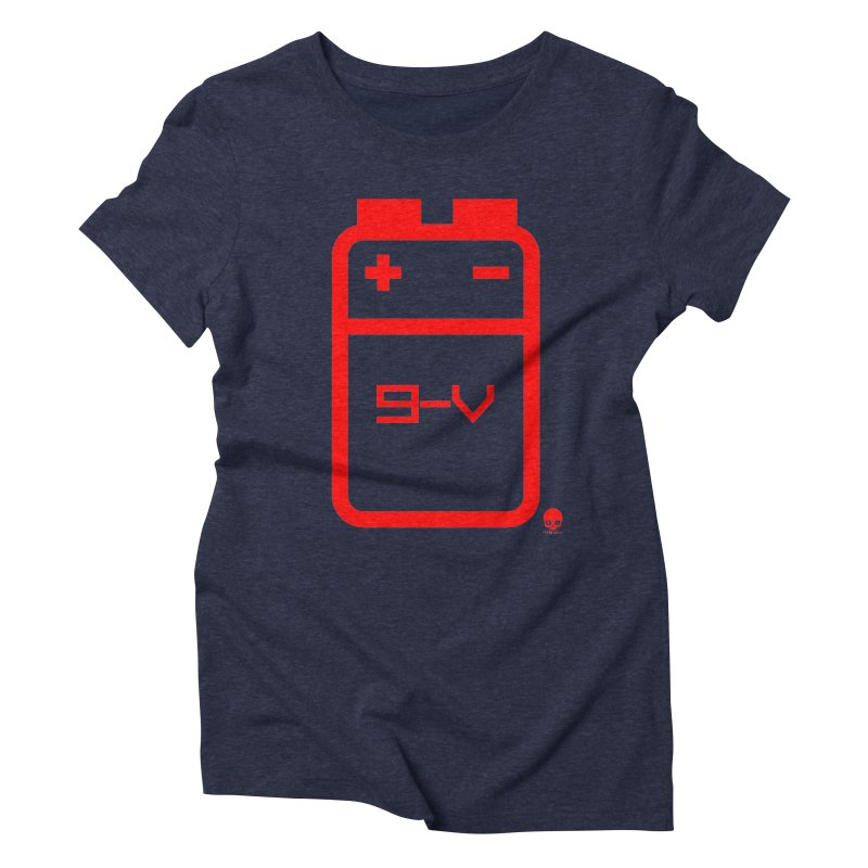 THE BATTERY: CHERRY Women's Triblend T-Shirt by NIN3VOLT