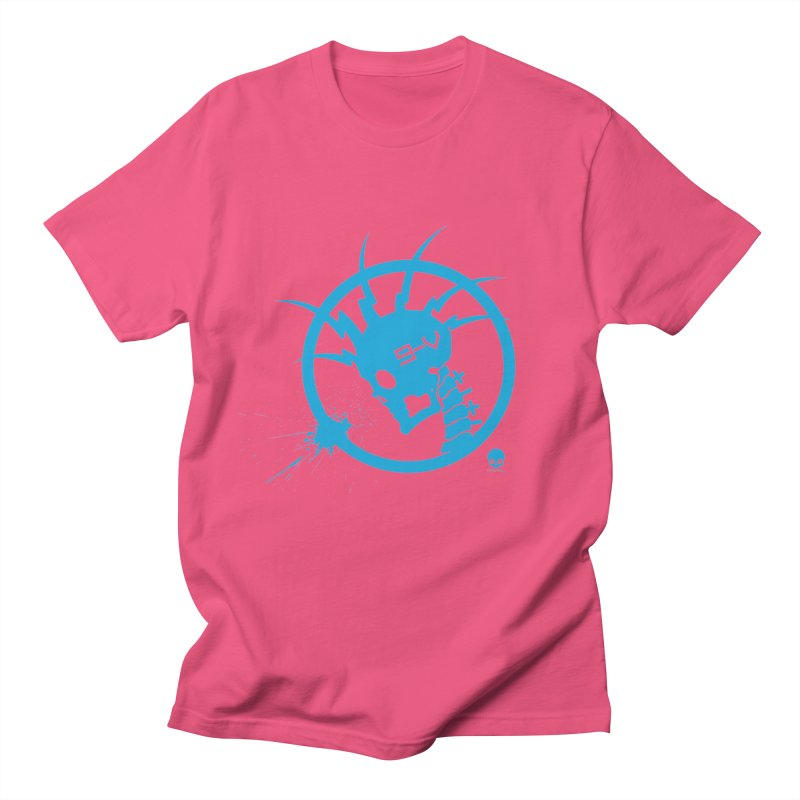 ELECTRO SKULL: ELECTRIC BLUE Men's T-Shirt by NIN3VOLT
