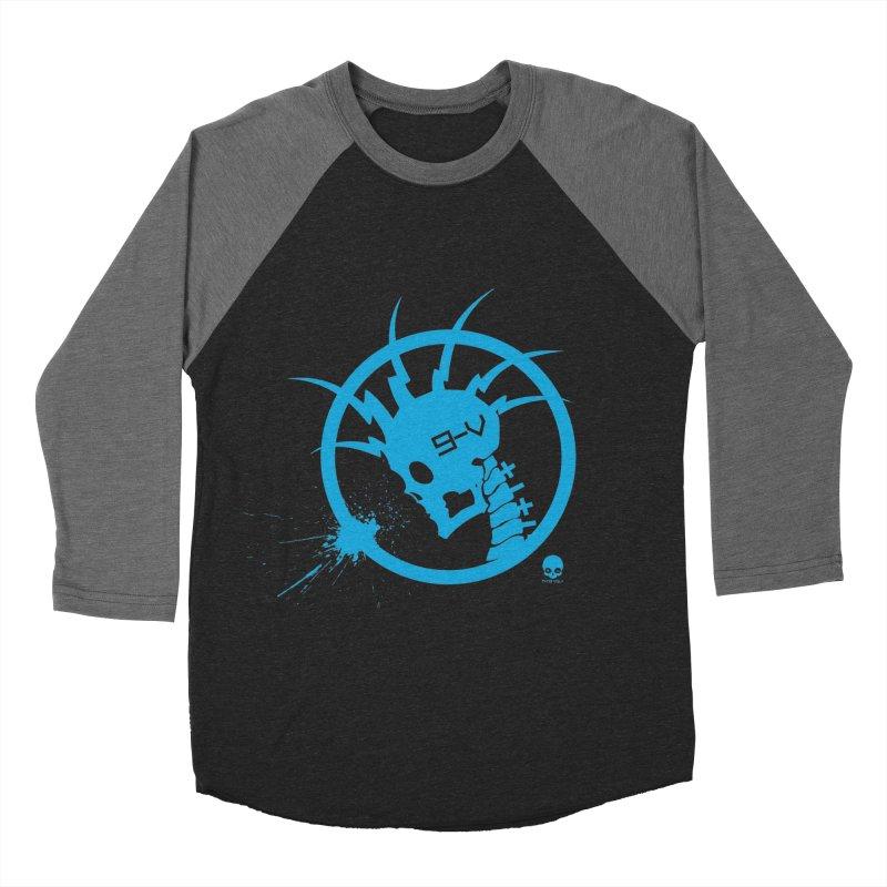 ELECTRO SKULL: ELECTRIC BLUE Women's Baseball Triblend T-Shirt by NIN3VOLT