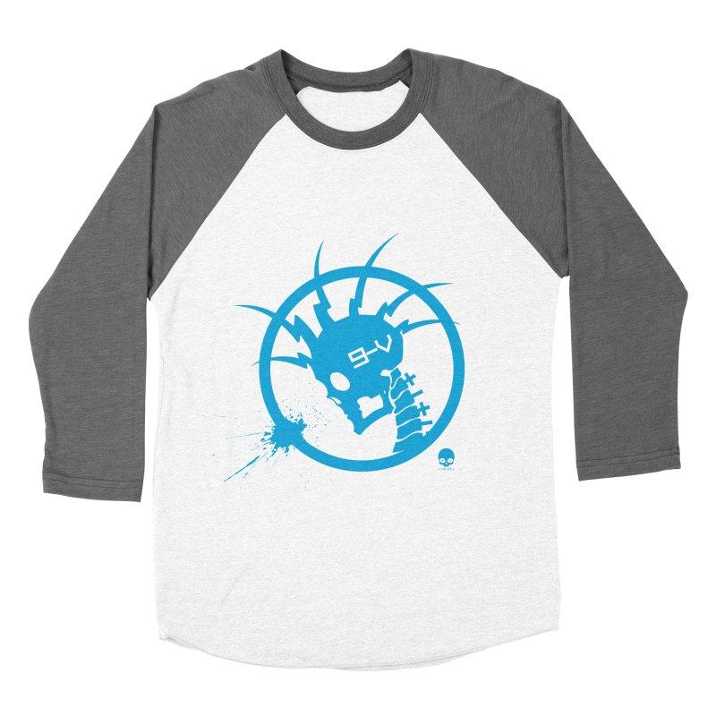 ELECTRO SKULL: ELECTRIC BLUE Men's Baseball Triblend T-Shirt by NIN3VOLT
