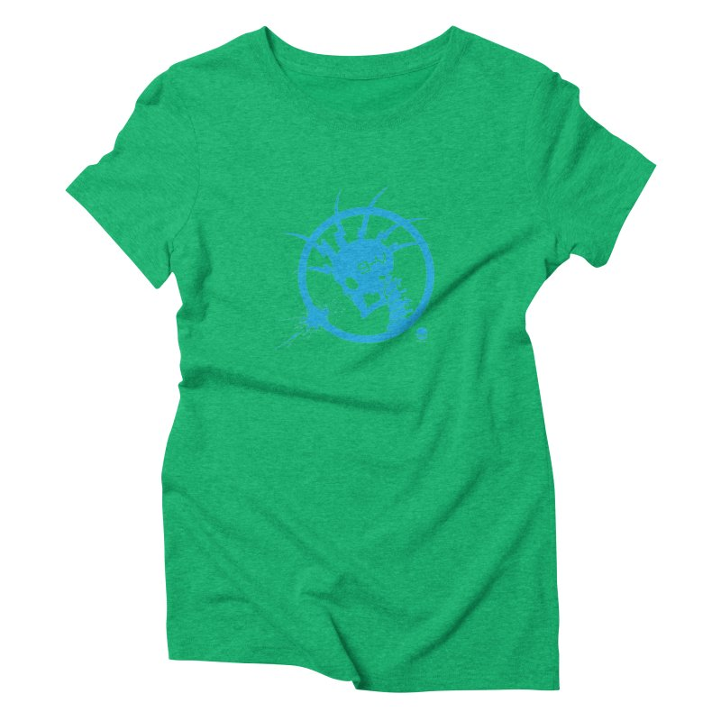 ELECTRO SKULL: ELECTRIC BLUE Women's Triblend T-Shirt by NIN3VOLT