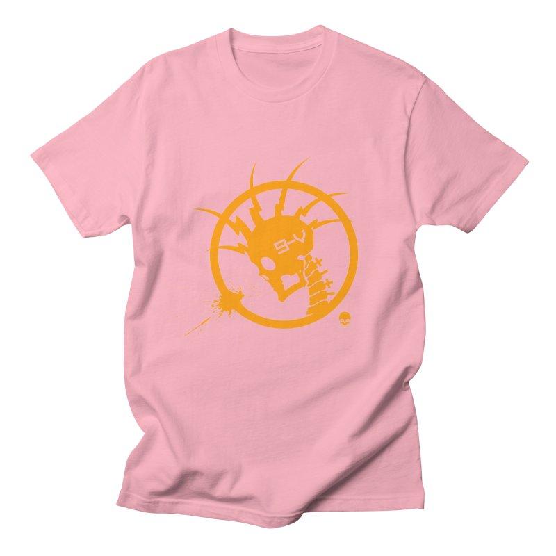 ELECTRO SKULL: CHEDDAR Men's T-Shirt by NIN3VOLT