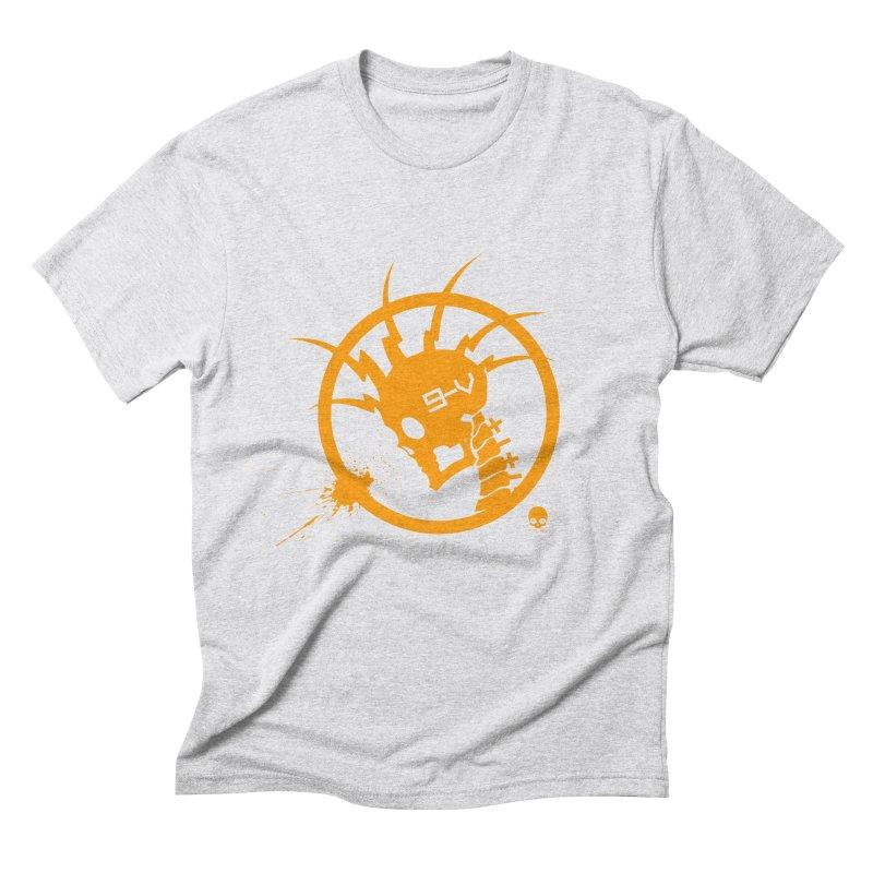 ELECTRO SKULL: CHEDDAR Men's Triblend T-shirt by NIN3VOLT