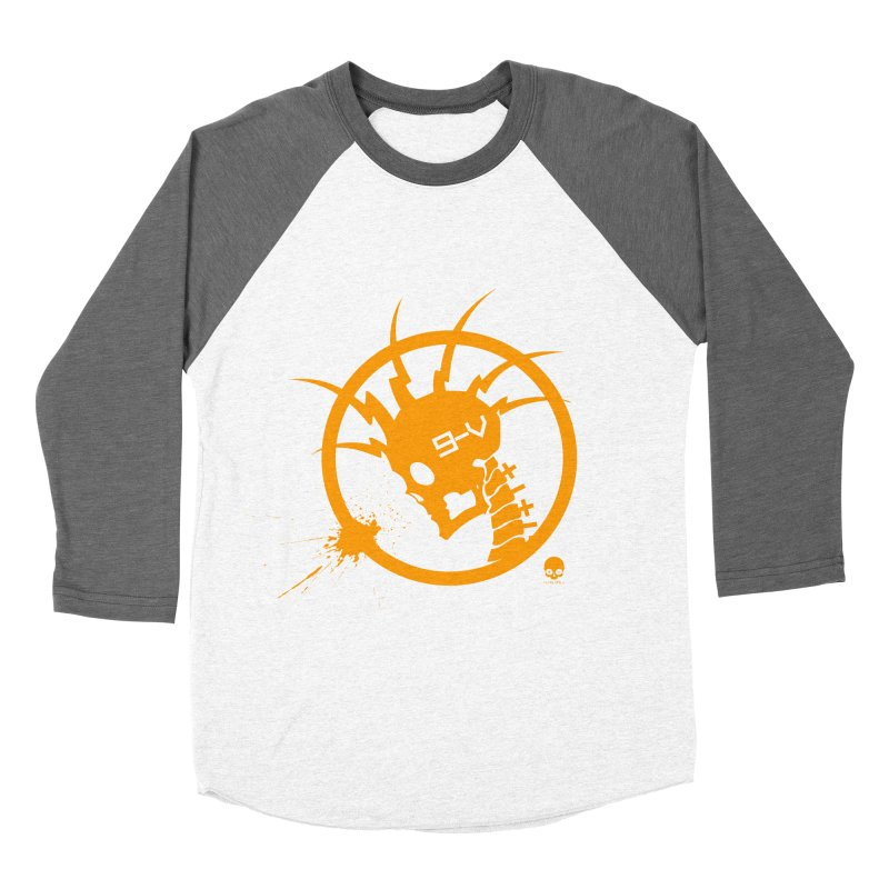 ELECTRO SKULL: CHEDDAR Men's Baseball Triblend T-Shirt by NIN3VOLT